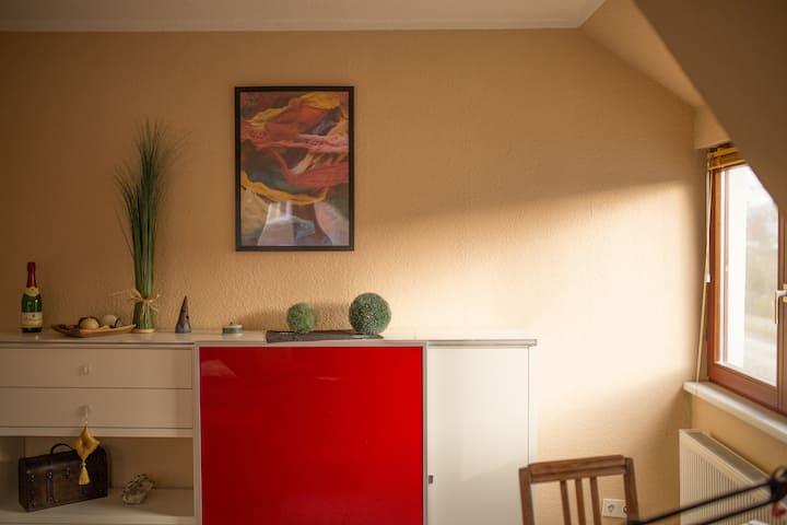 kleine Gartenstadt-Wohnung
