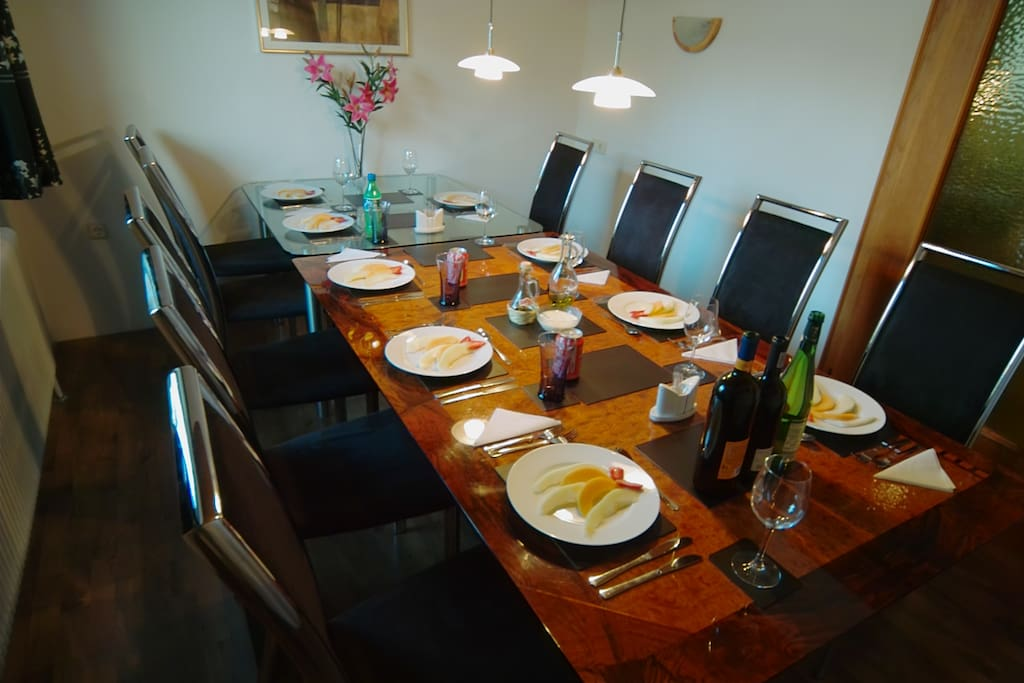 Inlaid dining table