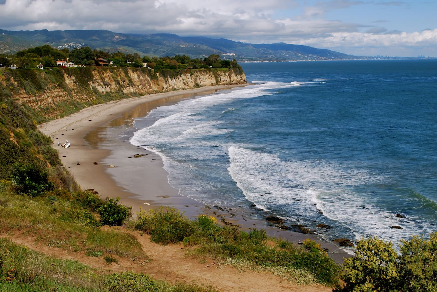 Point Dume Reserve, down the street from the Guest Cottage