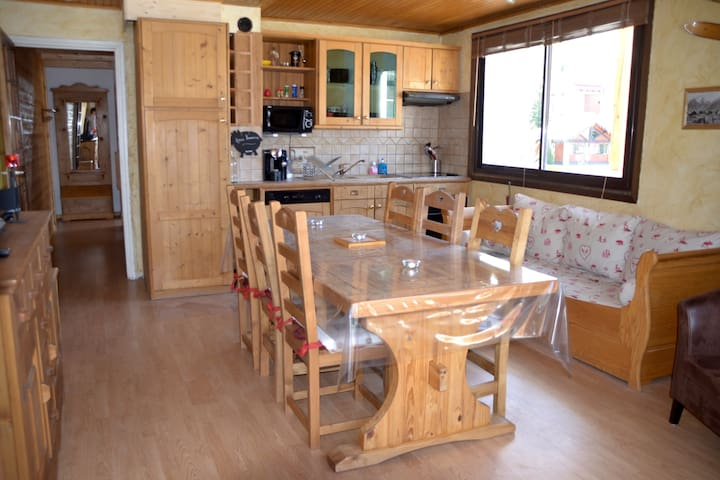 Grand appartement lumineux 53m²,6/8, pied pistes