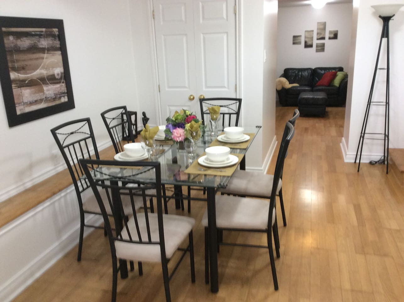 Large dining room Apartment has 800 square feet