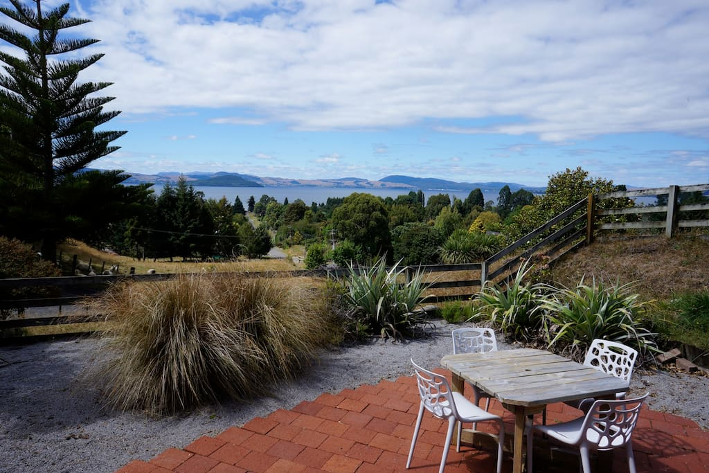 View of from the cottage over Lake Rotorua