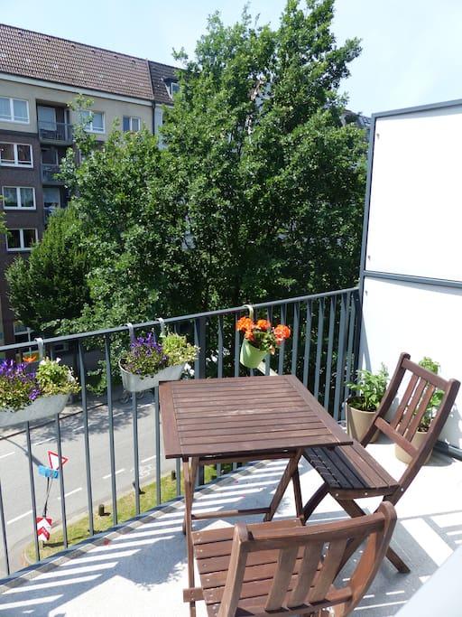 Balkon in Südlage