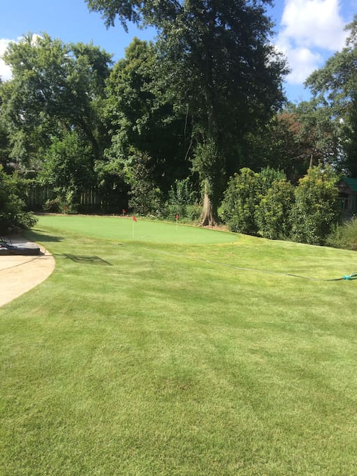 1200 sq ft short game green, bring your wedge and putter!