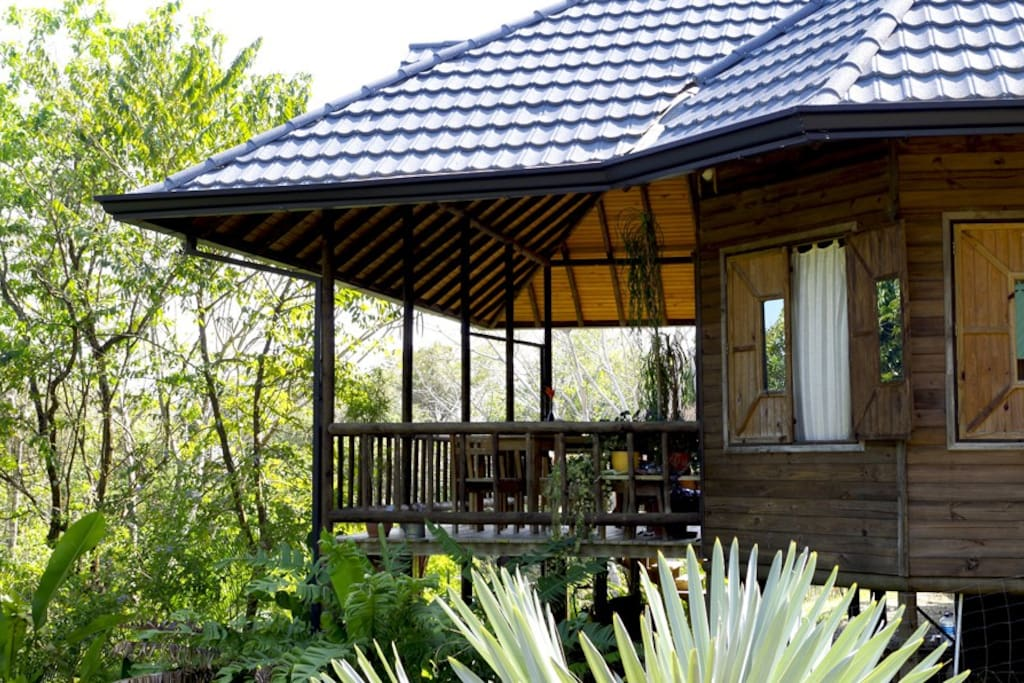 the house is a perfect combination of open space to enjoy nature and cozy private areas inside.