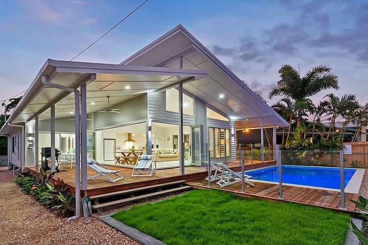 Luxury Ocean Front Home - Cairns - Machans Beach - 一軒家
