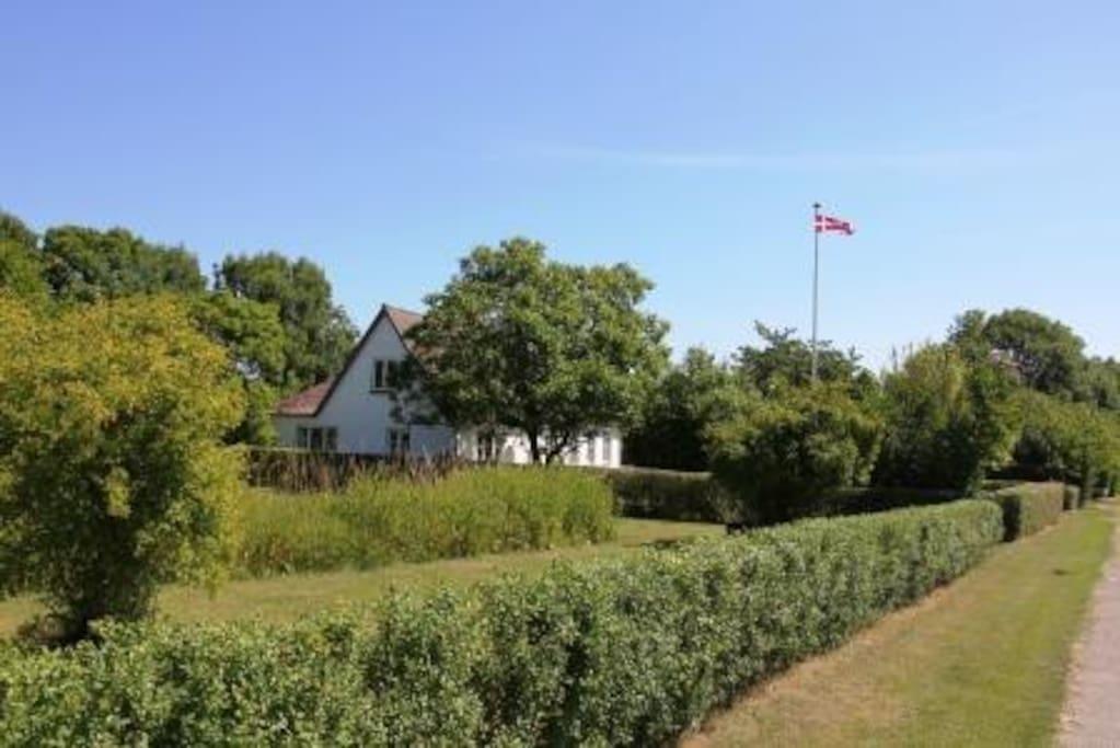 Villa Biviola ligger i en meget stor have.