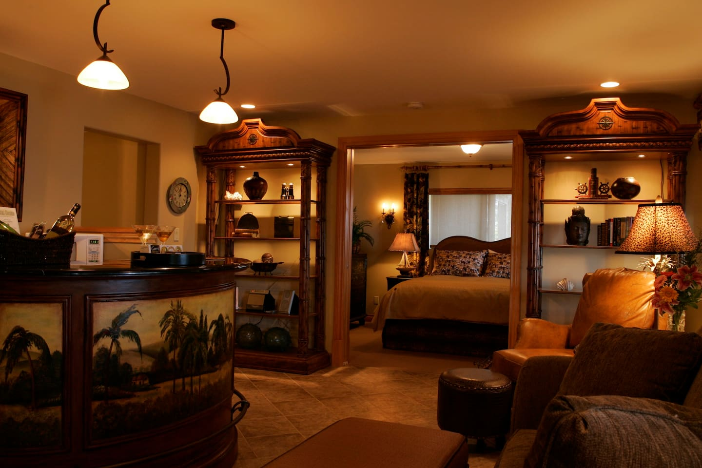 Warm and inviting, spacious suite