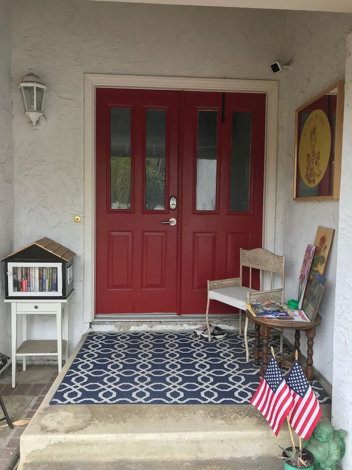 Welcoming front door entry