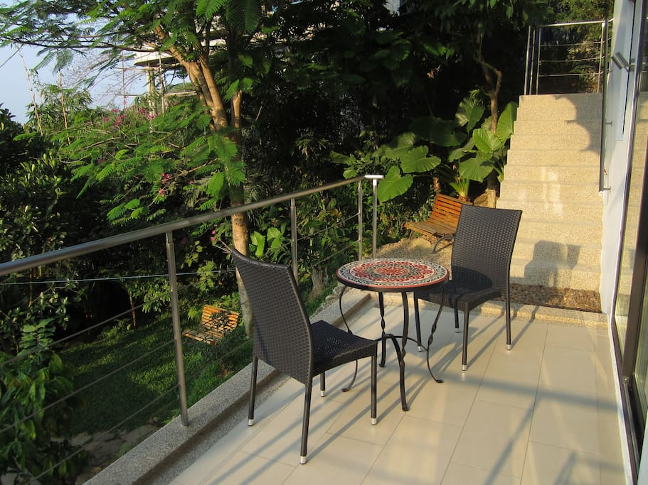 One of your two private terraces where we serve your breakfast in the morning