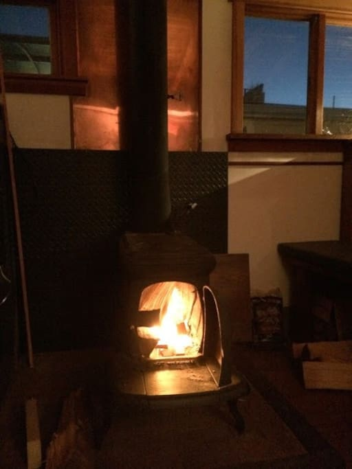 Warm up by the woodstove