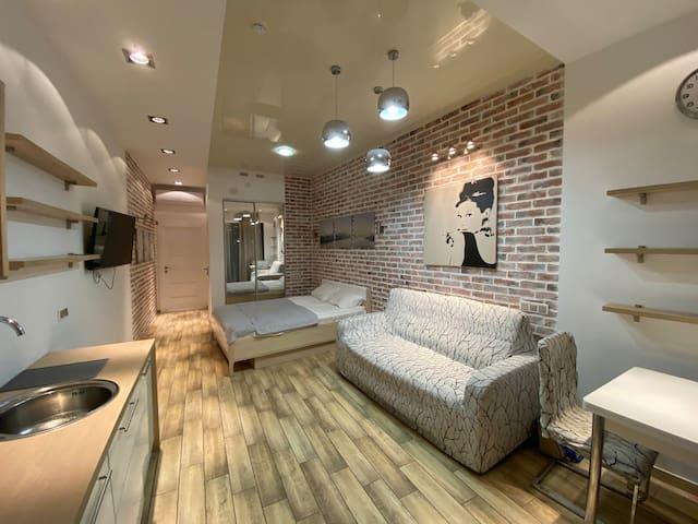 Стильные апартаменты с домашним уютом.