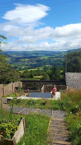 A1 views & own sitting room, hot tub & steam room - Llangattock - Rumah