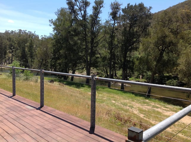 Deck over looking the  river
