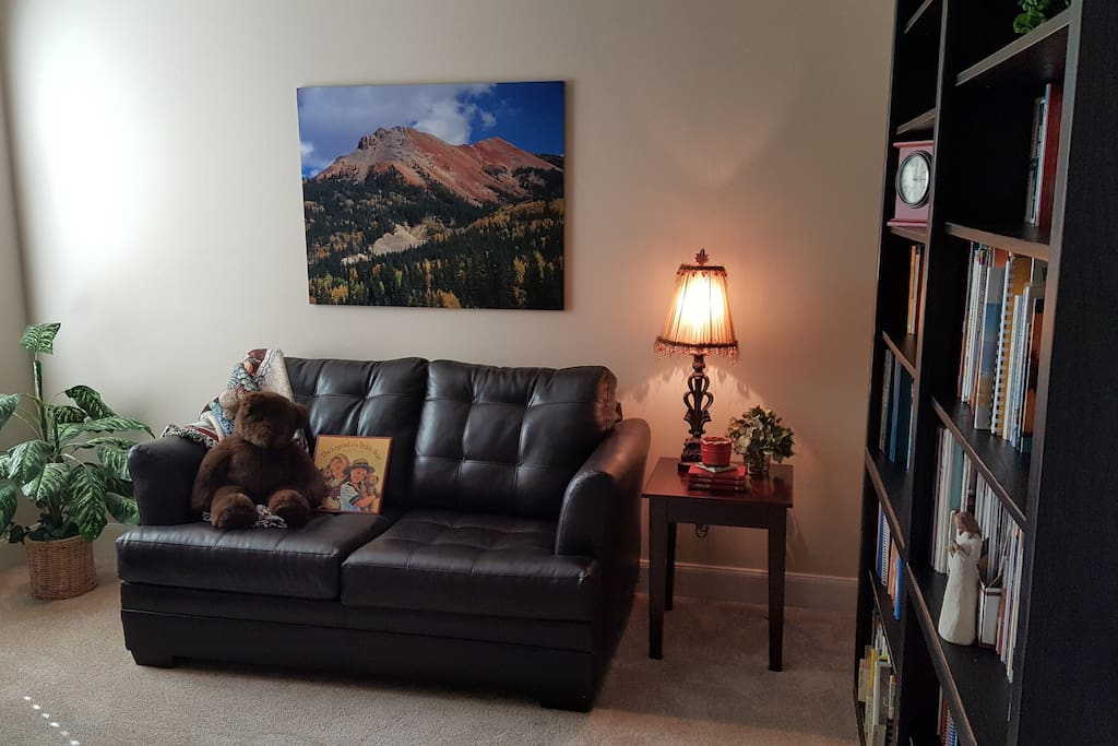 Study/bedroom with sofa sleeper for one