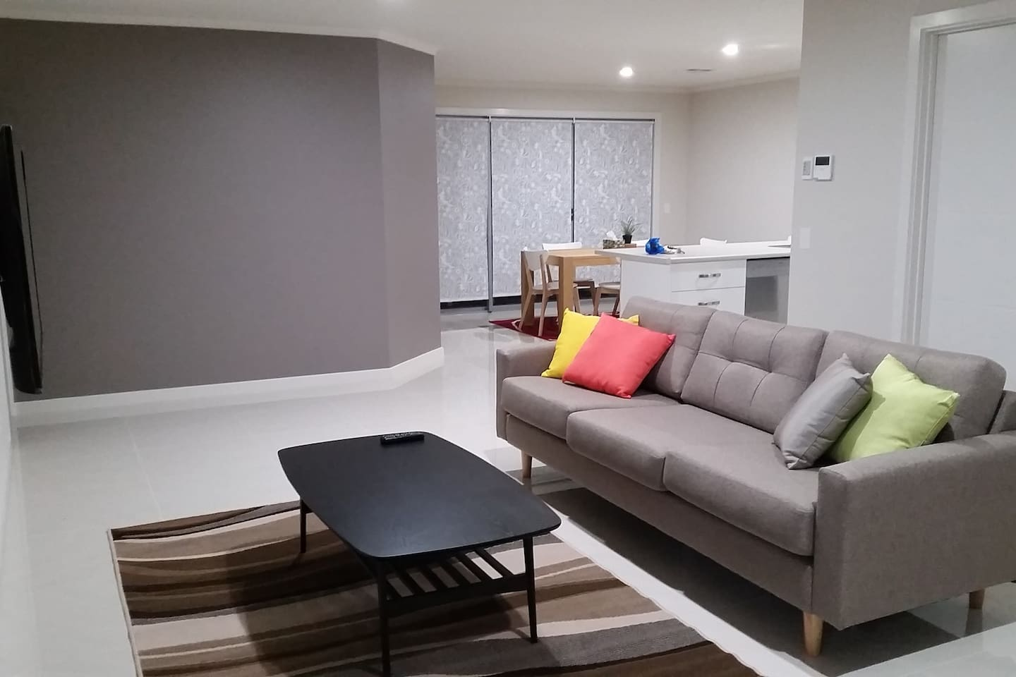 Comfortable dining and living area