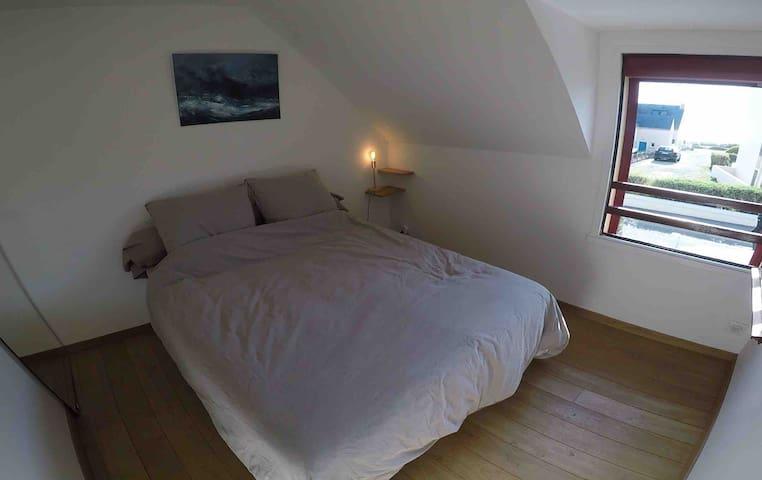 Chambre adulte avec aperçu océan, côte sauvage à 200 mètres (le linge de lit est fourni, vous n'avez pas besoin de prendre le vôtre)
