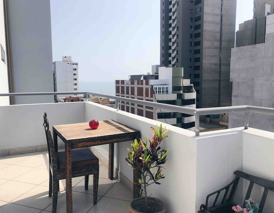 First floor balcony, where you can enjoy a meal and take some sun.