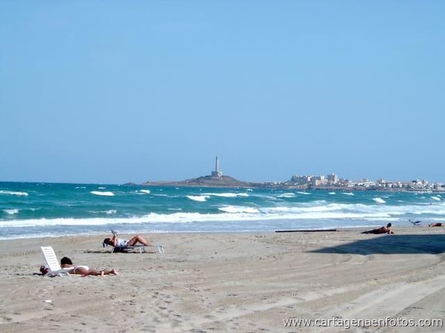 Una playa idílica en Cabo de Palos - La Manga