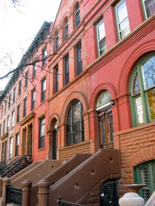 Our gorgeous 1886 facade is part of a quiet block in which every building is at least 100 years old.