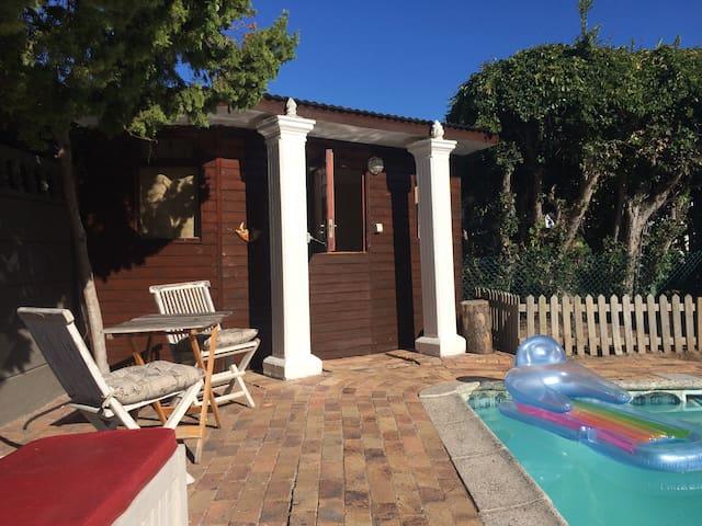 Leo's Den Pool Side Budget Twin  Cabin.