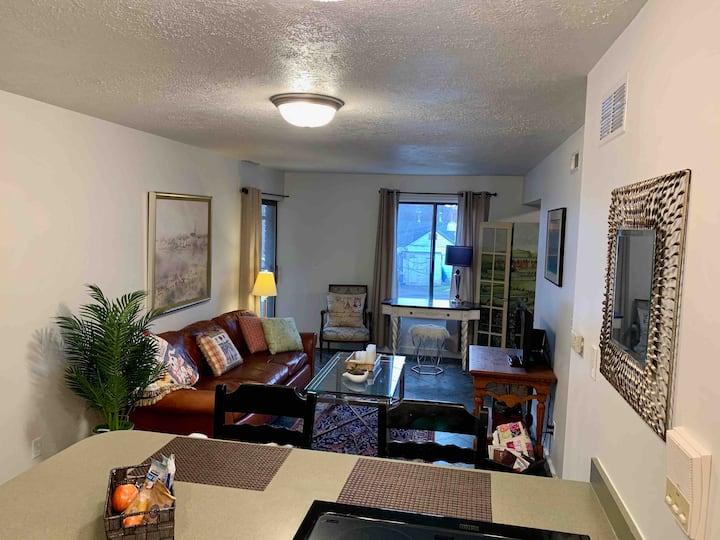 Private Avenues apartment w/secure garage parking