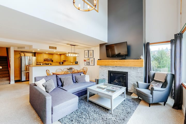 Dog-friendly skiier's condo with high-speed WiFi, gas fireplace, and central AC!
