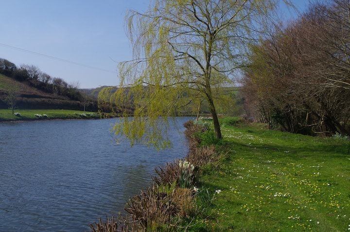 North Devon cottage with private lake