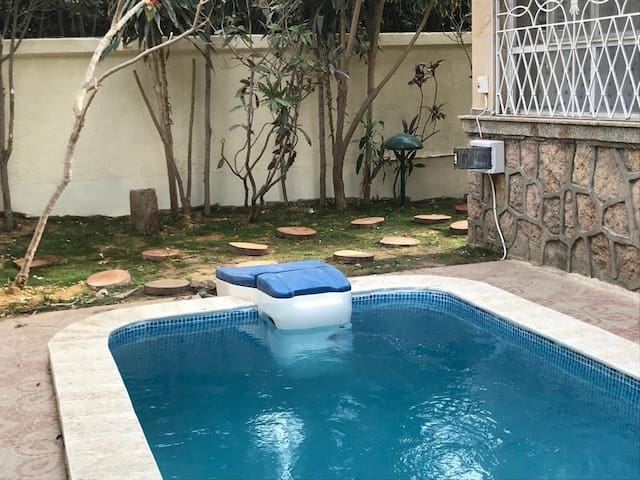 Villa with private pool is located in maadi 10 St