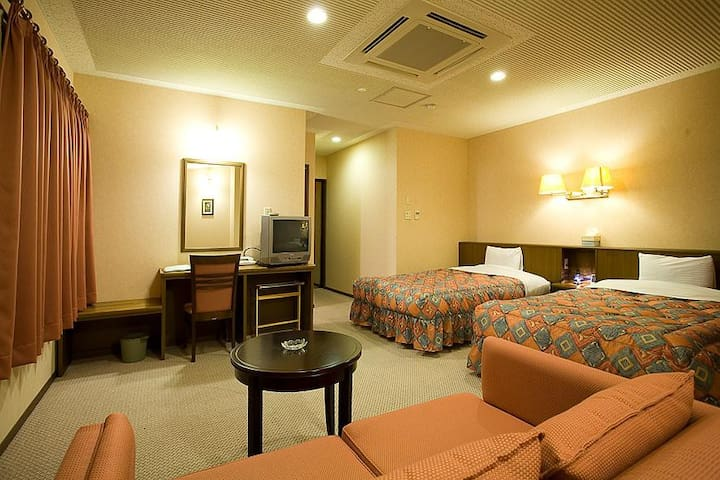 Free wifi★Free parking★Mountain view★Twin Room