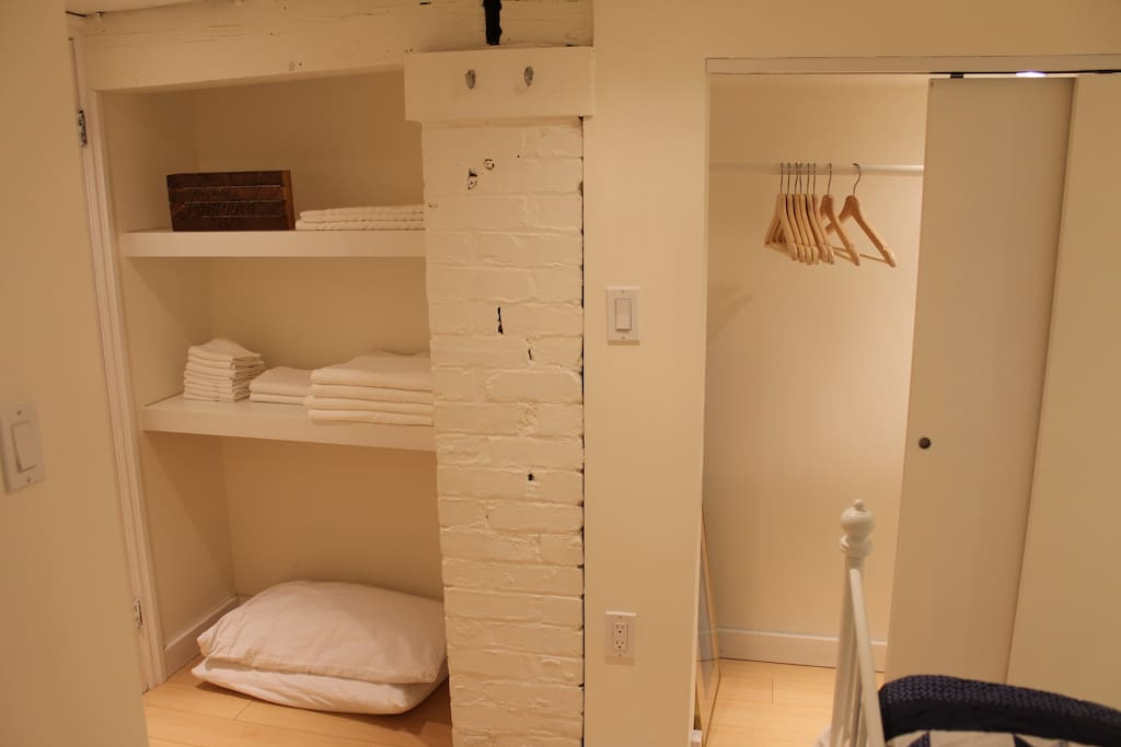 Turkish Towels & Clothes Cupboard with recessed lighting