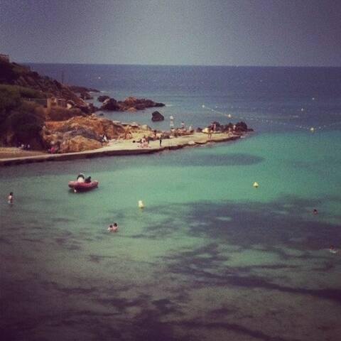 T1  avec piscine dans  resd à 10 mn Port et plages - Sanary-sur-Mer - Apto. en complejo residencial
