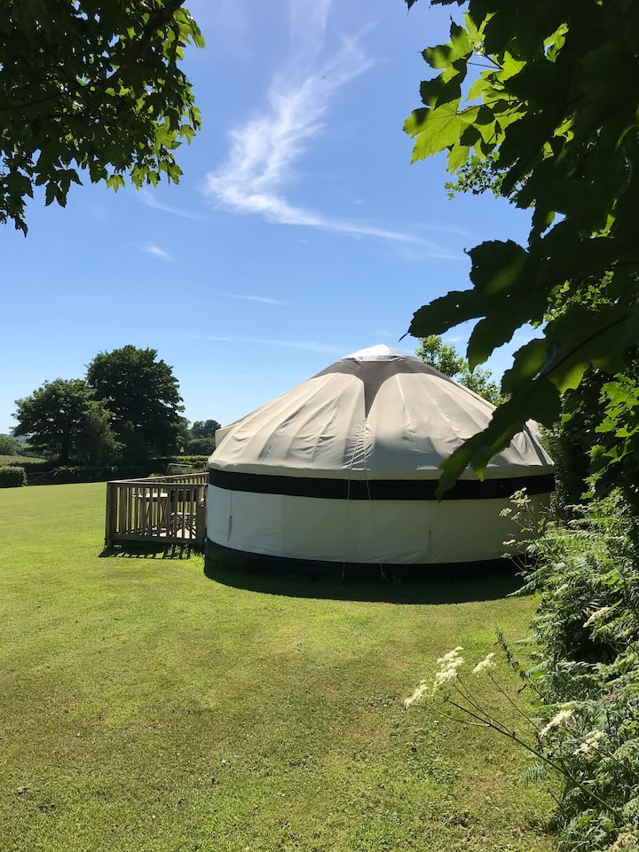 Luxury Cornish Yurts with Hot Tub