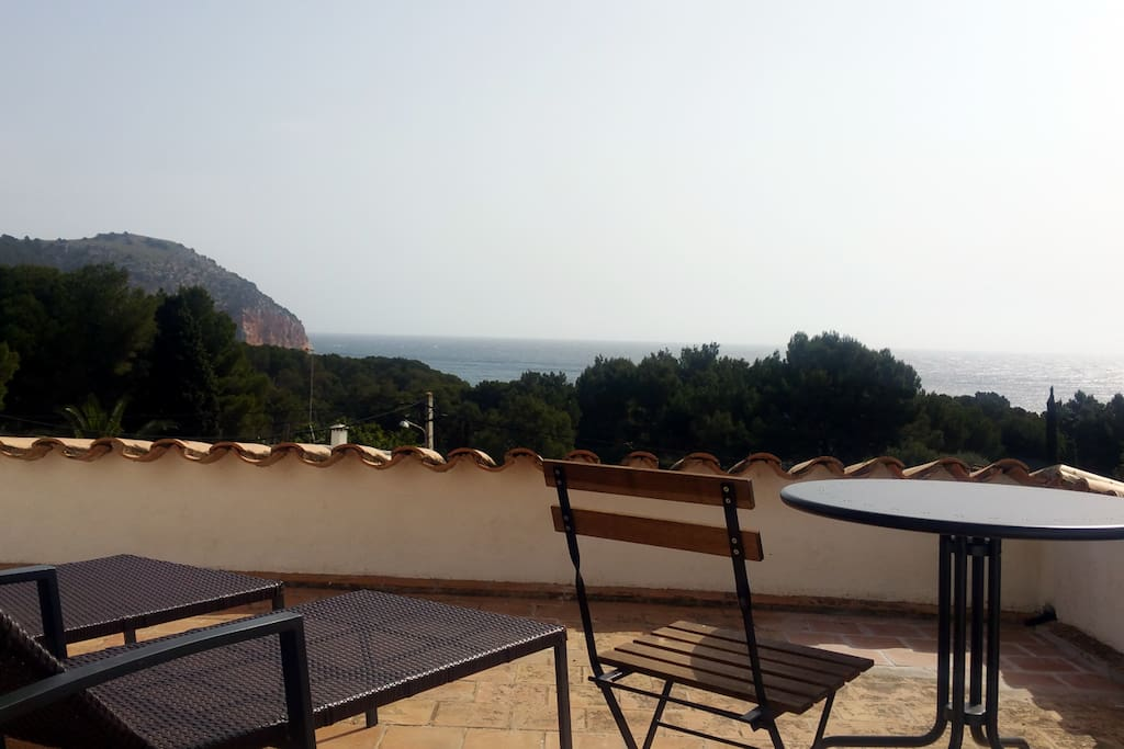 Blick von einer der beiden Terrassen