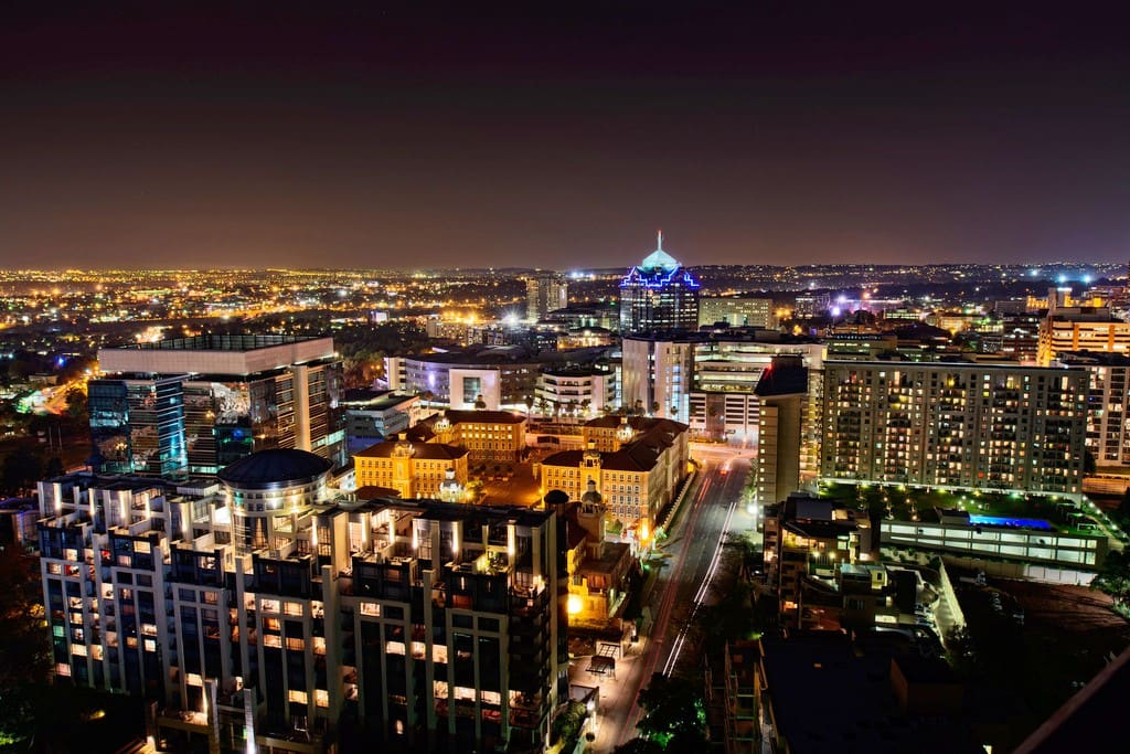 Sandton, Johannesburg by Night.