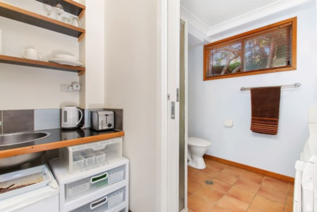 Kitchenette and bathroom/laundry