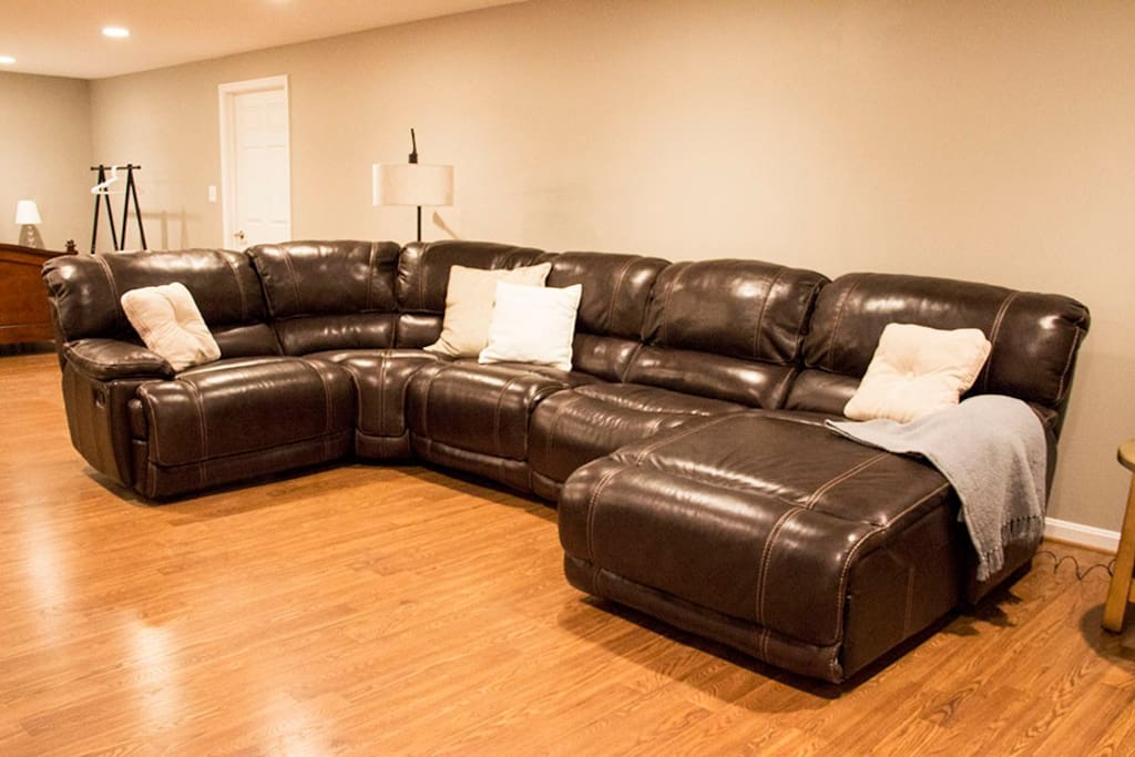 Comfortable, reclining couch!