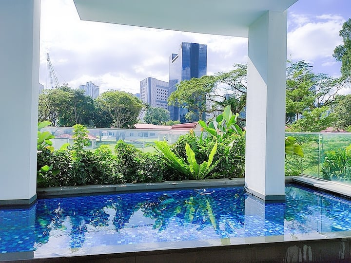 Tranquil 1BR Condo near MRT and Bus (CS3)