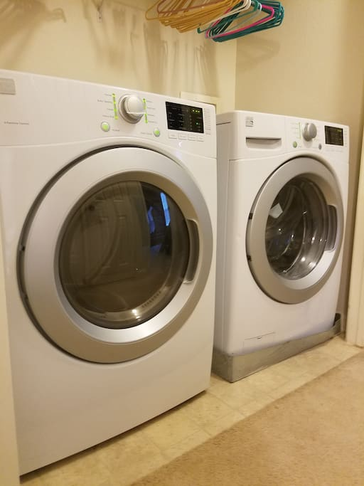 Brand New Premium Washer and Dryer To Keep Your Clothes Fresh!
