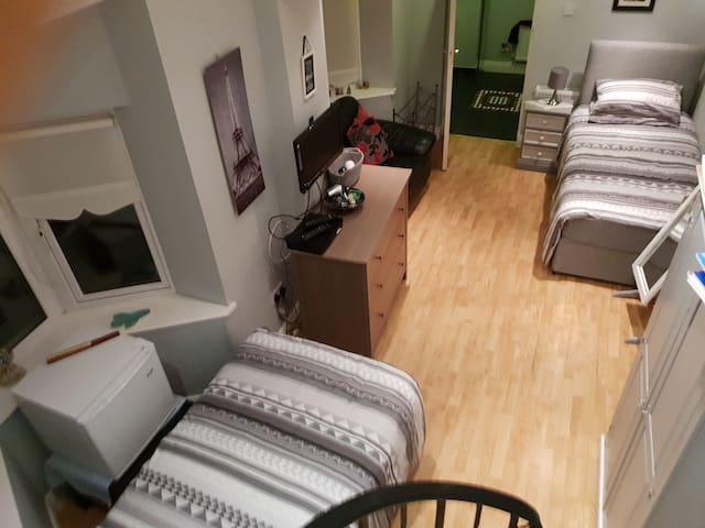 Amazing Triple Room with its own bathroom & fridge