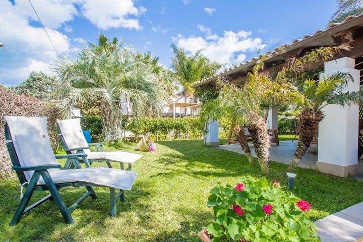Family Villa 350 m spiagge fino a 10 posti letto