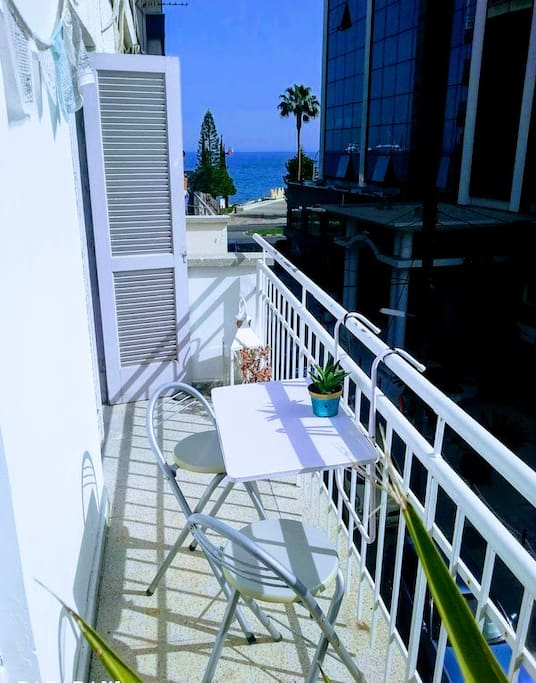 30 seconds to the sea! Balcony with Sea View, where you can drink a coffee or eat your breakfast :)