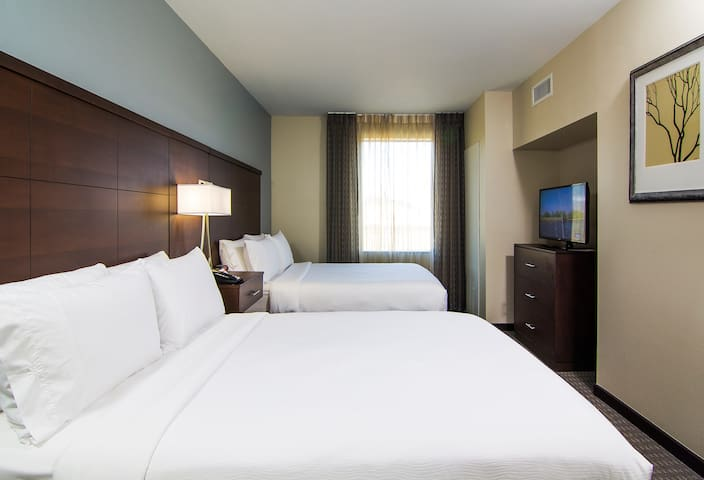 Free Breakfast! Suite Just 4-Minutes from the Airport   Fitness Center + Pool Access