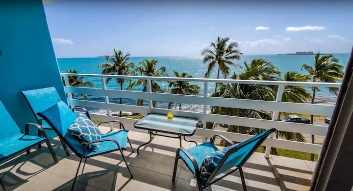 Beautiful Ocean Front Apt  & Charming Coastal View