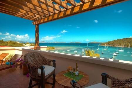 Fantastic views of Cruz Bay! - Cruz Bay