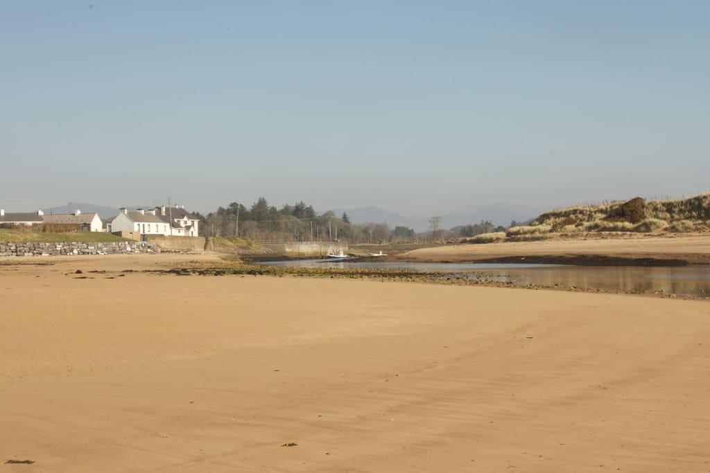 Inver beach and Inver village