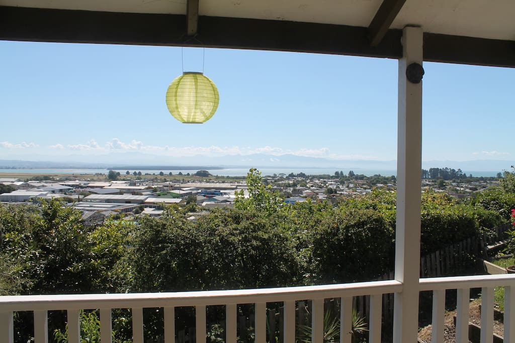 View from house over Tasman Bay and Rabbit Island.