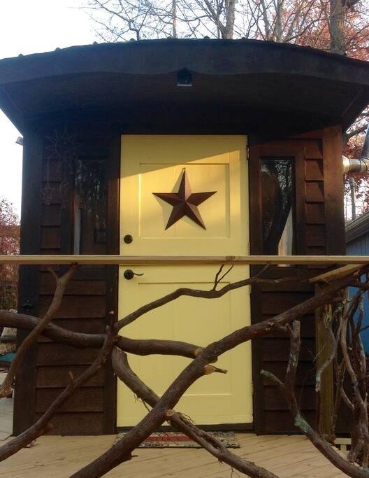 Tiny house entrance