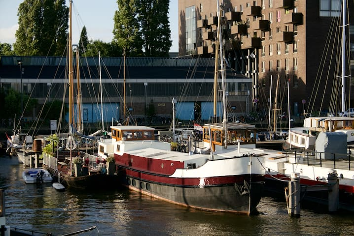 Bright family houseboat near city centre - Amsterdam - Boot