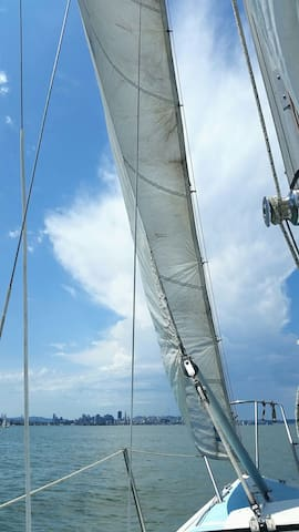 Inquire about going sailing if interested.   I have another boat for sailing on Boatsetter.
